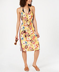 Miken Floral Desert Tropic Printed Cover-Up Dress