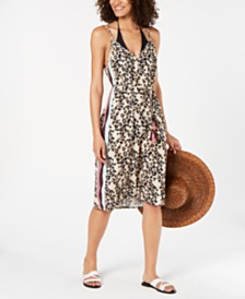 Miken Soft Leopard Printed Cover-Up Dress