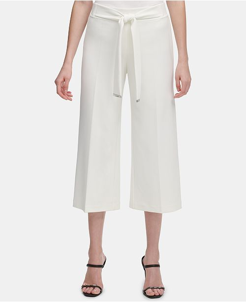 Calvin Klein Cropped Wide-Leg Pants