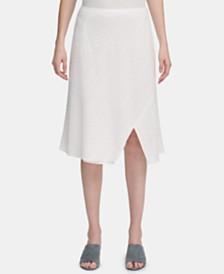 Calvin Klein A-Line Eyelet Skirt
