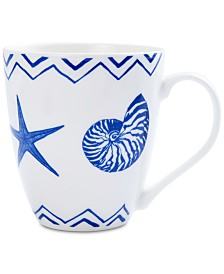 Pfaltzgraff Blue & White Shells Mug