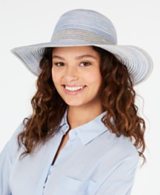 I.N.C. Shimmer Packable Floppy Hat, Created for Macy's