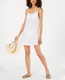 Miken Tassel-Trim Cover-Up Dress