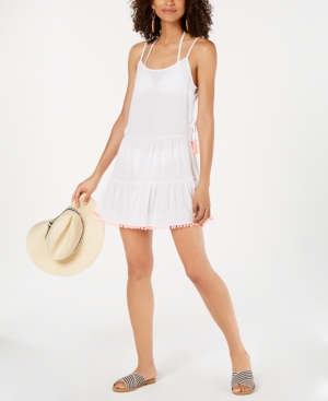 d94762fae2 Click here for Miken Tassel-Trim Cover-Up Dress Womens Swimsuit prices