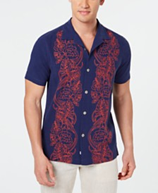 Tommy Bahama Men's Scrolling Vines Silk Shirt