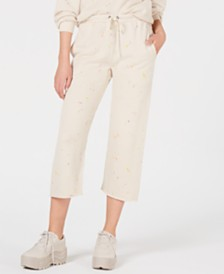 Free People Movement Printed Sideline Cropped Sweat Pants