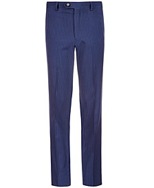 Big Boys Stretch Navy Stripe Suit Pants