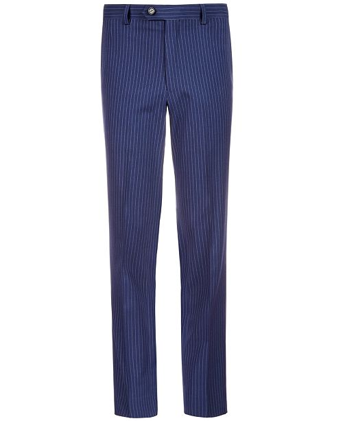 Lauren Ralph Lauren Big Boys Stretch Navy Stripe Suit Pants