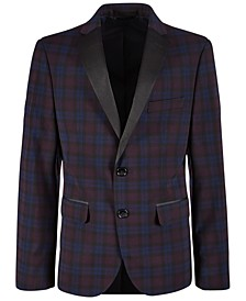 Big Boys Stretch Plaid Dinner Jacket