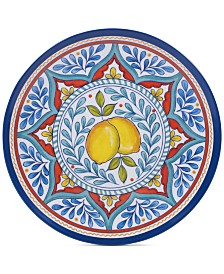Certified International Capri Isle Lemon Melamine Salad Plate