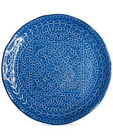 222 Fifth Capri Isle Mosaic Tile Melamine Dinner Plate
