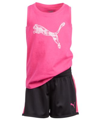 b1869f6385 Little Girls 2-Pc. Logo-Print Tank Top & Shorts Set