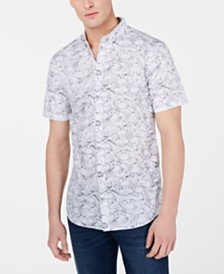 A|X Armani Exchange Men's Sea Creature Graphic Shirt