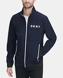 DKNY Men's Logo Graphic Bomber Jacket, Created for Macy's