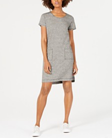 Eileen Fisher Short-Sleeve Shirt Dress