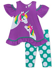 Rare Editions Toddler Girls 2-Pc. Unicorn Tunic & Leggings Set