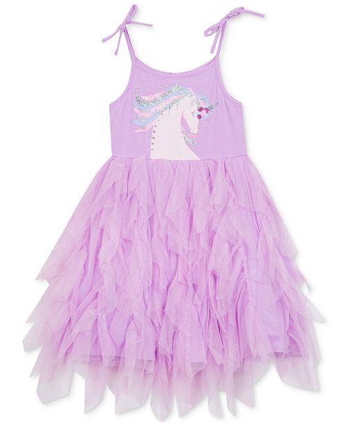 Rare Editions Big Girls Unicorn Tutu Dress, Created for Macy's