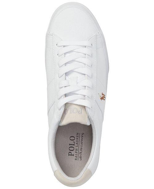 4f4bd3c3bad Polo Ralph Lauren Men s Sayer Canvas Sneakers   Reviews - All Men s ...