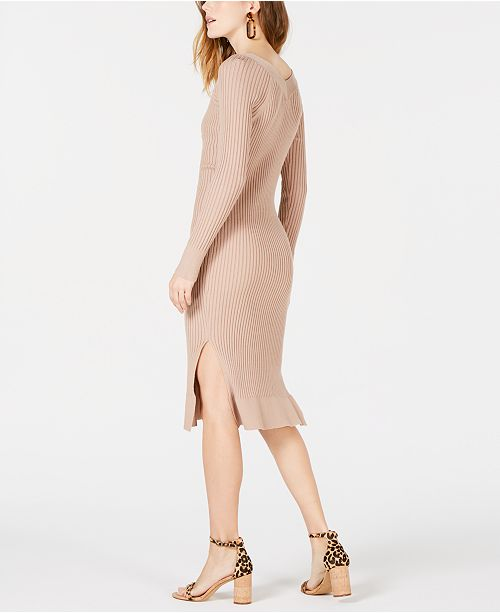 f782c178e4a Moon River Button-Front Midi Sweater Dress   Reviews - Dresses ...