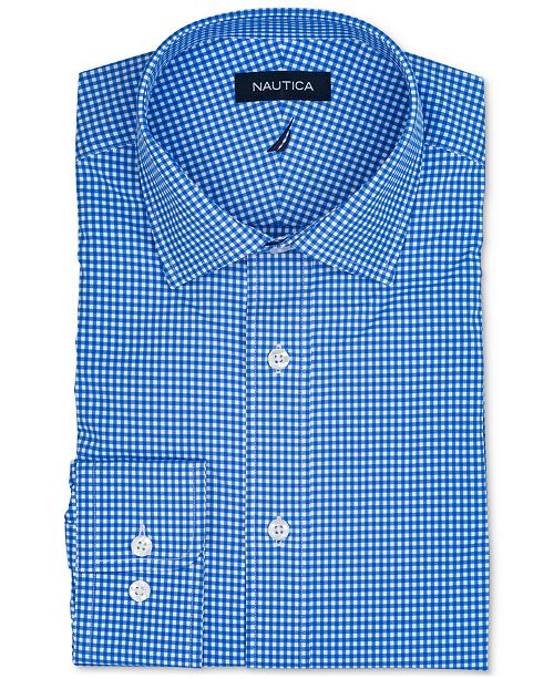 0785355564d Nautica Men s Classic Regular Fit Non-Iron Performance Stretch Check ...