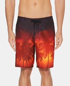 "Perry Ellis Men's Sunset Graphic 8.5"" E-Board Swim Trunks"
