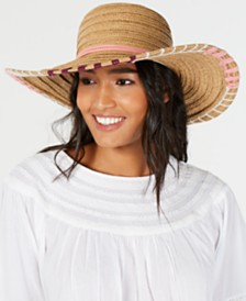 I.N.C. Whipstitch Edge Floppy Hat, Created for Macy's