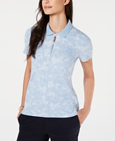 Tommy Hilfiger Zippered Polo Top
