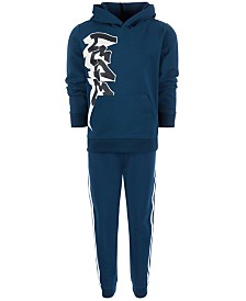 Ideology Little Boys Graffiti-Print Hoodie & Striped Jogger Pants Separates, Created for Macy's