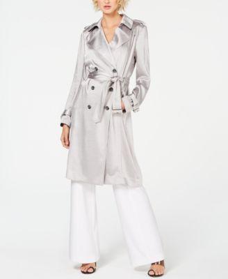 INC Metallic Trench Coat, Created for Macy's