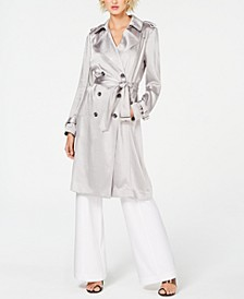 I.N.C. Metallic Trench Coat & Wide-Leg Pants, Created for Macy's