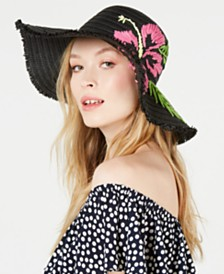 Betsey Johnson Tropical Hibiscus Floppy Hat