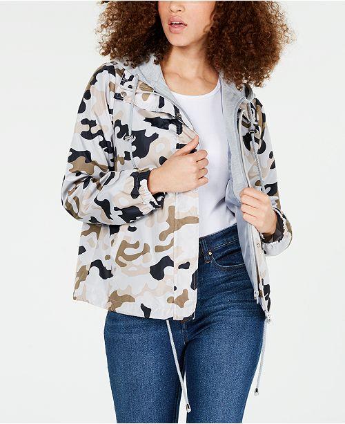 Jou Jou Juniors' Camouflage Hooded Jacket