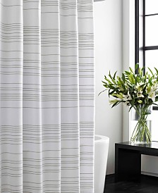 Vera Wang Irregular Stripe Shower Curtain