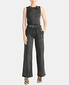 RACHEL Rachel Roy Danica Cutout Denim Jumpsuit