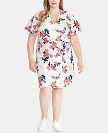 RACHEL Rachel Roy Plus Size Andrea Floral-Print Dress