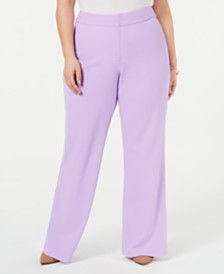 I.N.C. Plus Size Wide-Leg Suit Pants, Created for Macy's