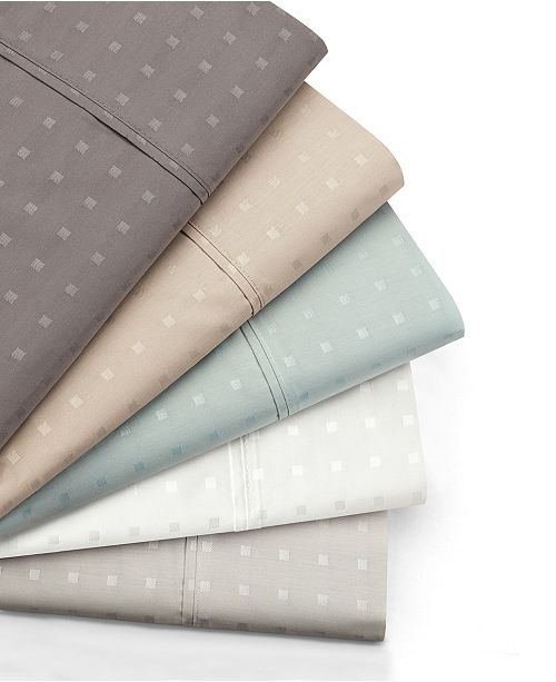 AQ Textiles Woven Dot 4 piece King Sheet Set, 400 Thread Count Combed Cotton Blend
