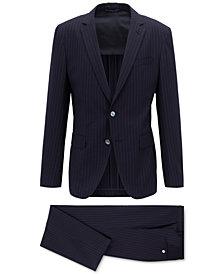 BOSS Men's Slim Fit Pinstriped Suit