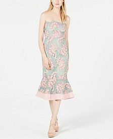 Sleeveless Embroidered-Lace Mermaid Dress