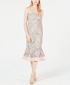 foxiedox Sleeveless Embroidered-Lace Mermaid Dress