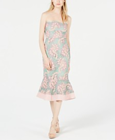 foxiedox Sleeveless Embroidered-Lace Mermaid Dress