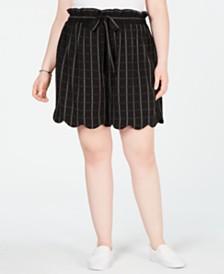 Monteau Trendy Plus Size Scalloped Shorts