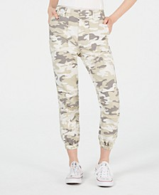 Love Fire Juniors' Tan Camo Slim Utility Pants