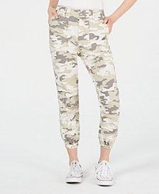 Love Fire Juniors' Tan Camo Slim Utility Pants