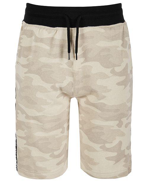Univibe Big Boys Lewis Regular-Fit Camouflage Taped Drawstring Shorts