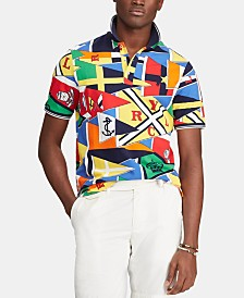 Polo Ralph Lauren Men's Nautical Flag Classic-Fit Mesh Polo Shirt