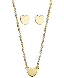 Kitsch Insta Collection Heart Necklace and Earring Box Set