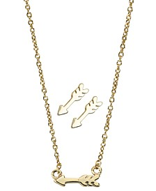 Insta Collection Arrow Necklace and Earring Box Set