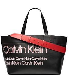 Calvin Klein Tannya Extra-Large Logo Tote