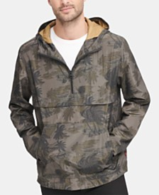 Levi's® Men's Water-Resistant Palm-Print 1/2-Zip Jacket